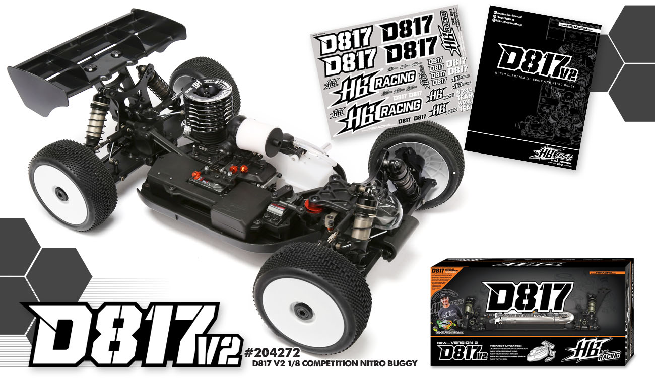 HB Racing D817V2 1/8 World Champion Nitro Buggy | HB Racing