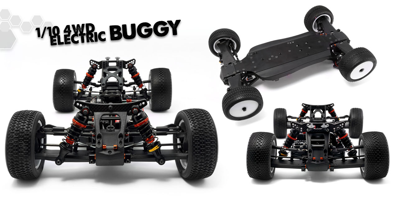 Race Kits: #HB-204241 - HB D418 Competition 1/10 4WD Buggy Kit