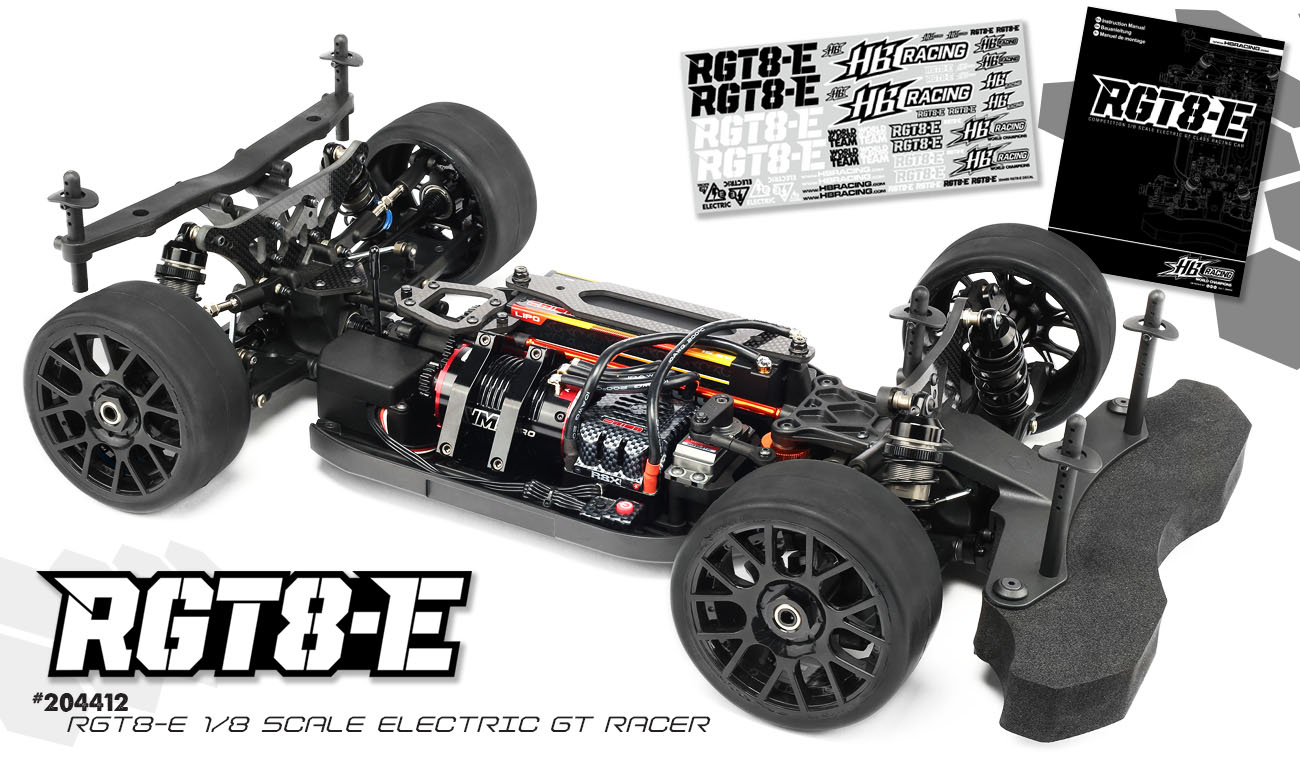 HB Racing RGT8-E Electric GT On-Road Race Kit 1:8 | HB Racing