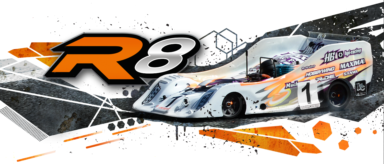 HB Racing R8 1/8 On-Road Competition Car | HB Racing