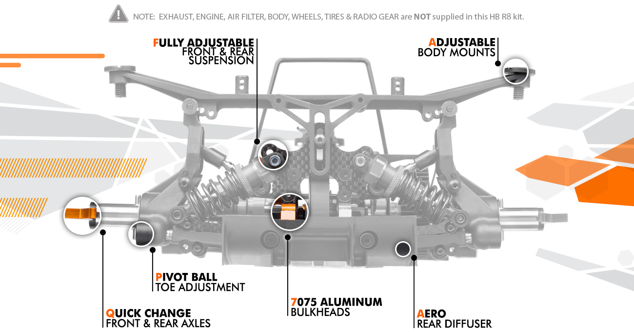 Hb R8 1 8 Competiton On Road Kit Answer Rc Ltd Car Wiring Diagram Rc8 2e